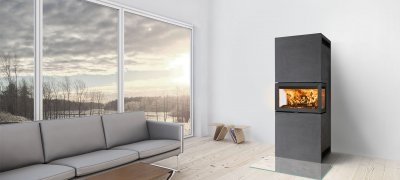 Insert Jotul F 620 in livingroom. Photo.